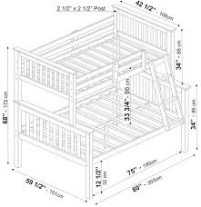 bunk bed mattress sizes. Mission Bunkbed Twin Over Full By Palace Imports Bunk Bed Mattress Sizes