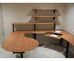office furniture shelves. client installatiion office furniture curvilinear shelves o
