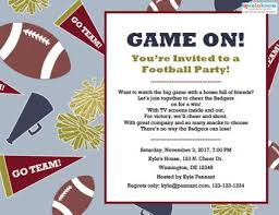 Team Get Together Invitation Football Party Invitations Lovetoknow