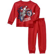 Garanimals Baby Toddler Boy Fleece Top and Fleece Pants 2-Piece ...