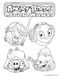 Small Picture Angry Birds Star Wars 03 Coloring Page Coloring Page Central