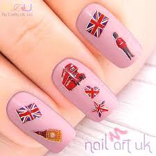 England Flag Nail Designs British Adhesive Nail Stickers