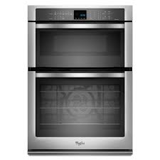 whirlpool self cleaning with steam convection microwave wall oven combo stainless steel