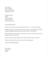 thank you letter to donors donation thank you letter 6 free word pdf documents download