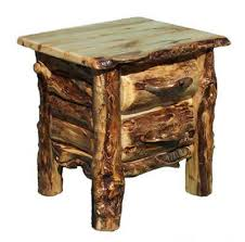 log end table log nightstand rustic furniture cabin decor