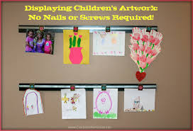 Childrens Artwork Display Displaying Childrens Art Work How To Make A Wooden Wall Art