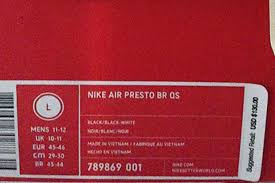 Sizing Info For The Nike Air Presto Sneakernews Com
