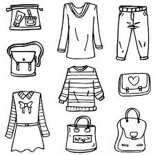 How To Draw Girl Shirts Doodle Of Style Clothes Girl Hand Draw Royalty Free Cliparts