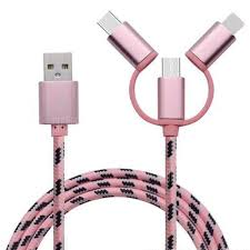 Type-C Micro 3 in 1 Multiple <b>USB</b> Charging Cable for iPhone Xiaomi ...