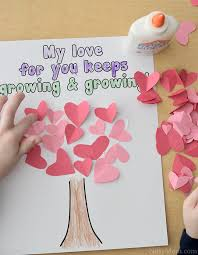 Valentines Day Quotes For Preschoolers Heart Tree Craft For Kids Valentines Day
