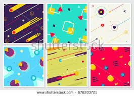 large templates memphis new style large background design stock vector hd royalty