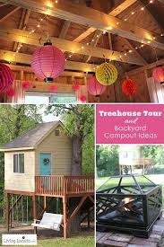 tree house decorating ideas. Modren Ideas Tree House Tour And Backyard Campout Ideas LivingLocurtocom In Decorating Ideas