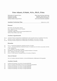 Phd Resume Template Resume Format For Lecturer In Computer Science Unique Phd Resume 6