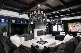 black and white modern living rooms