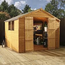 garden sheds. Unique Garden Click Image To Enlarge 8 X Tongue U0026 Groove Apex Wooden Garden Shed Inside Sheds E