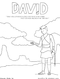 More than 10.000 printable coloring sheets. David Coloring Page Ministry To Children