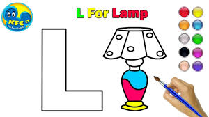 Learn Alphabets For Kids How To Draw Alphabet L L For Lamp