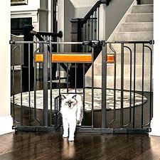 diy indoor dog gate with door gates wide pet fence design paw extra walk thru i diy indoor dog door fence