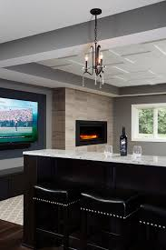 Home Basement Designs Stunning Builtin Drink Ledge In Remodeled Basement Sneak Peek Design