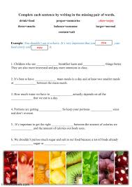 Students use word bank to help them identify healthy habits. Healthy Diet Vocabulary Worksheet