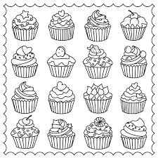 Cupcakes Colouring Page Adult Colouring~Coffee~Tea~Cakes Pinterest ...