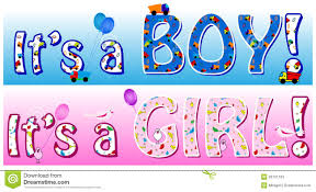 Boy Girl Announcement Stock Vector Illustration Of Memo 20101163