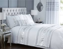 bedding set christy bedlinen stunning silver and white bedding queensbury silver delight white and silver