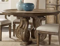 furniture solana light wood 54 wide round pedestal dining table 5291 75203