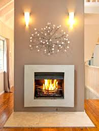 curved stone fireplace design