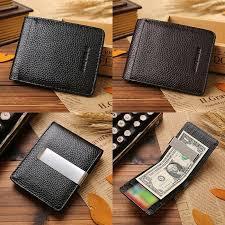 mens synthetic leather cash money clip slim pocket wallet id credit card holder black 1438676944 2621 jpg 1438676947 5033 jpg