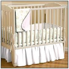 mini portable crib bedding set