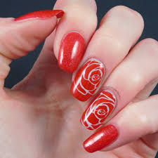 B Nailed To Perfection: 40 Great Nail Art Ideas - Red - Accent Nail
