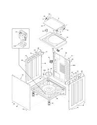 Frigidaire laundry center parts model cfle2022mw0 sears partsdirect rh searspartsdirect ge front load washer diagram