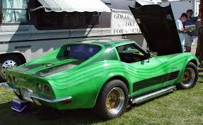 1972 Chevrolet Corvette - Green Custom - Rear Angle