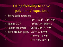 using factoring to solve polynomial equations