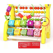 Baby 2-3-year-old puzzle string around the bead toys deer calculation frame Abacus wooden children abacus rack count number of patients