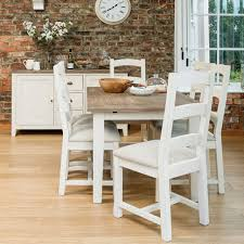 bake01 ledbury 140cm extending dining set with table 4x upholstered chairs 2x wooden chairs