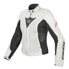 dainese las laa evo estivo leather jacket white red