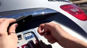 Hyundai Elantra License Plate Light Replacement Hyundai Elantra 2010 License Plate Light Change Out Under 2 Min