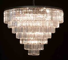 g7 1157 33 gallery closeout retro palladium crystal glass fringe 7 tier chandelier