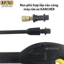 Bộ đầu chuyển và 4 béc phun thay béc súng xịt rửa máy rửa xe Karcher K2 -  K7
