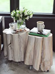 tree stump furniture ideas. view in gallery white washed tree stump tablesjpg furniture ideas