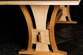 i commissioned ochre wood to design and craft a kitchen table benches and carvers the whole experience was positive particularly choosing the wood