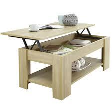 oak finish oval shaped coffee table