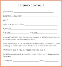 Example Of Catering Contract 9 Sample Catering Contract Agreement Templates Word Docs