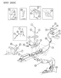 1993 chrysler lebaron gtc controls gearshift floor shaft diagram 00000bv8