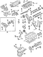solved please timing belt marking diagram for kia fixya compare qith the 2003 kia spectra the following schematic shows the 2 5l engine block cylinder head components assembly