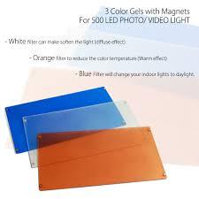 Lighting Gels Walmart 3x Color Lighting Gel Diffusion Filters For 500 Studio Led Light Panel Transparent Orange Blue For Photo Video By Loadstone Studio Wmls0008