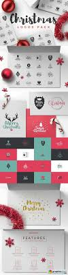 Christmas Logos Pack Free Download Vector Stock Image