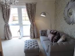 Silver Wallpaper For Bedrooms Cae Nant Show Home Living Room Featuring Silver Linen